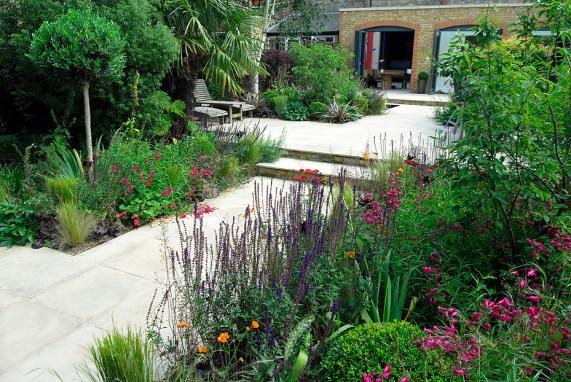 lignes de fuite pour l'aménagement paysager d'un jardin