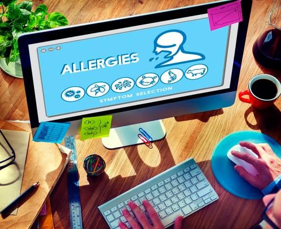 site internet avec carte des allergies au pollen de graminée région par région