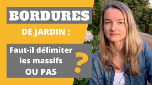 la paysagiste Maud explique comment poser une bordure de jardin
