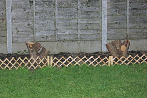 bordurettes pour délimiter les massifs dans le jardin