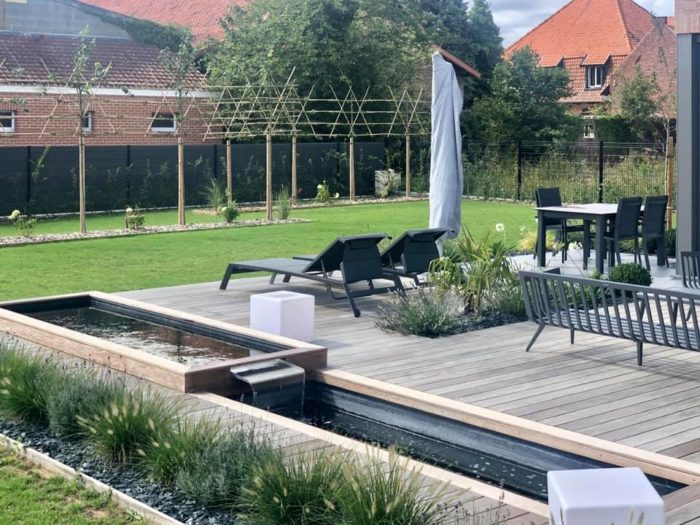 aménagement de terrasse ipé gris