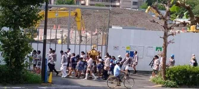 子供神輿!!!2018年亀戸6丁目!!!