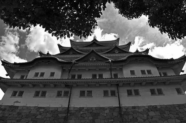 名古屋城モノクロ