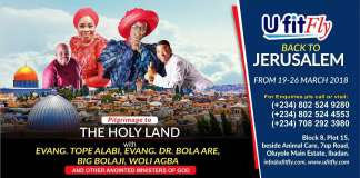 """Gospel News: Fly To Jerusalem With Tope Alabi, Big B, & Others - """"UFitFly"""" Makes Affordable Travel Offer! [www.AmenRadio.net]"""