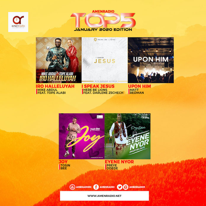 Download Top 5 Gospel Songs Mp3 - January 2020