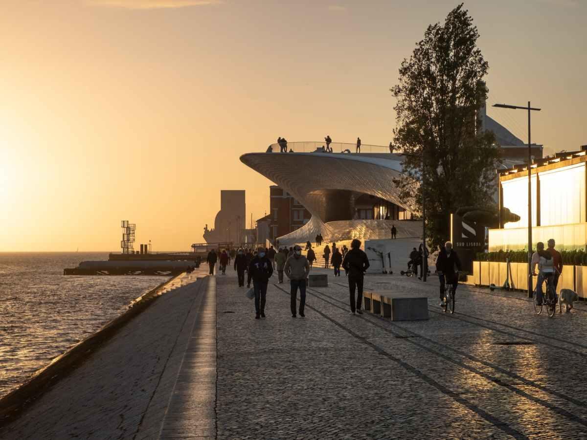 light sea city dawn