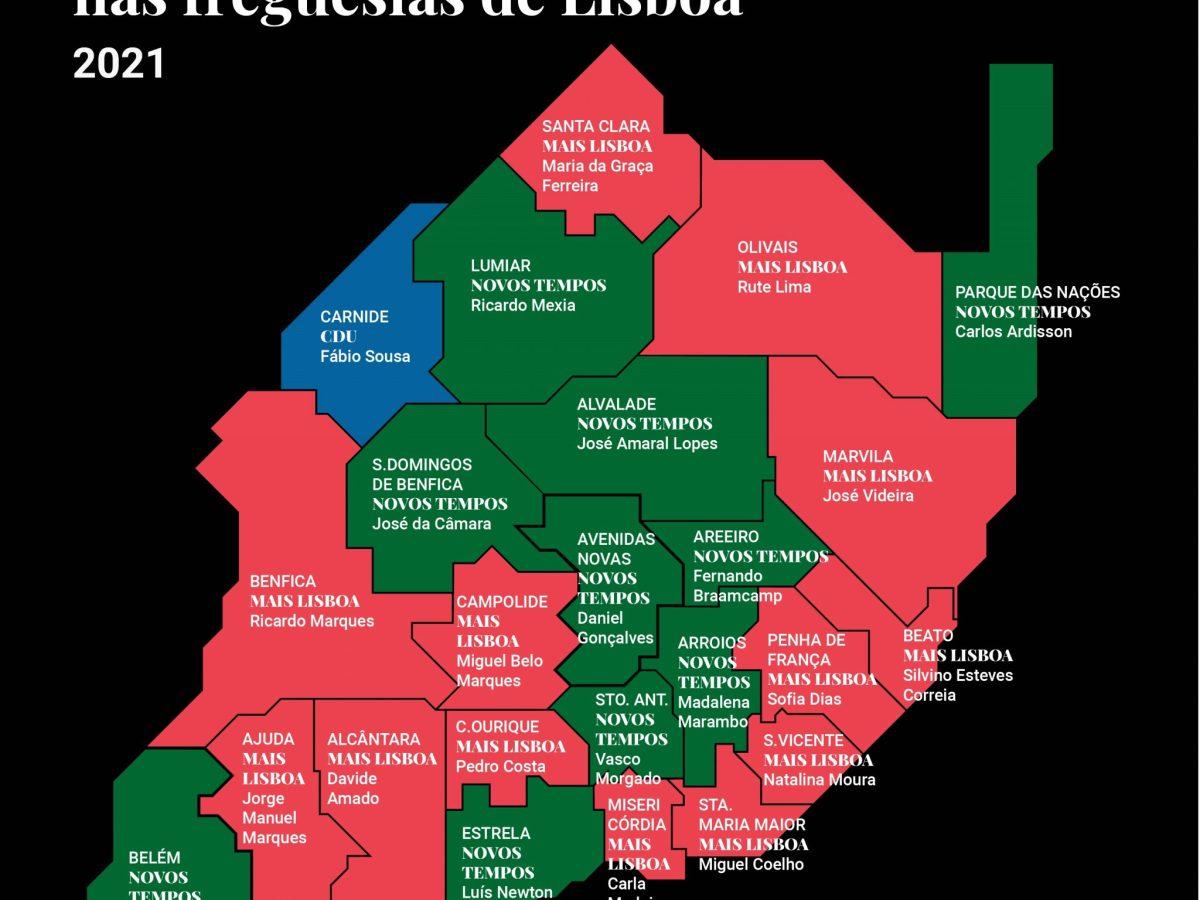 eleições autárquicas freguesias de Lisboa
