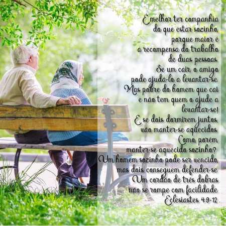 Cordão de Três Dobras - Versiculos Sobre Amor - Eclesiastes 4:9-12