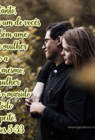 Ame sua mulher - Efésios 5:33 - Versiculos Sobre Amor