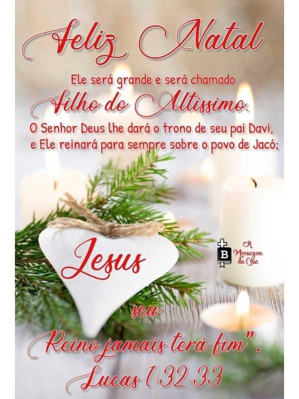 Feliz Natal! Filho do Altíssimo - Mensagem de Natal