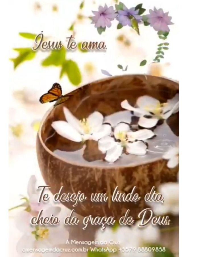 Te desejo um lindo dia com a graça de Deus