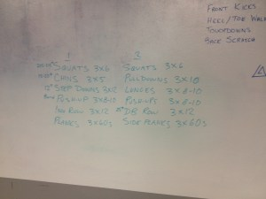 White Board Workout