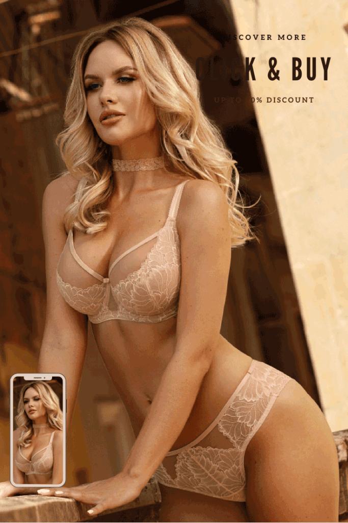 Lavinia Sexy Lingerie Blond Rubia Lencería