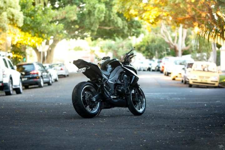 motorcycle in road