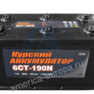 Аккумулятор 6СТ190 прямая полярность Курск (болт)