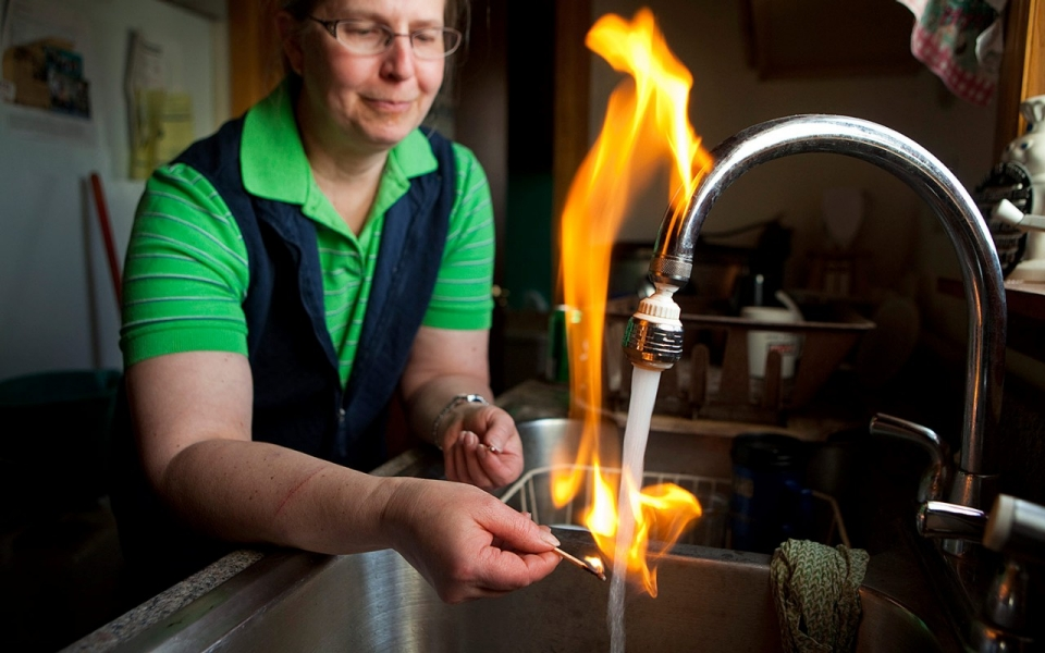 Image result for fracking water on fire images