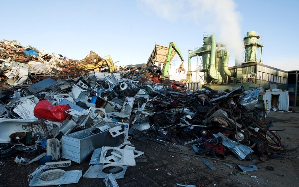 A garbage dump in Göteborg, Sweden.