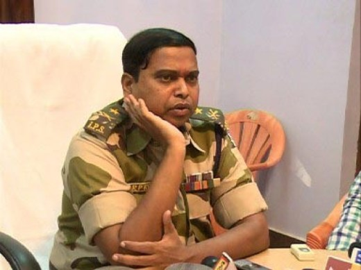 Inspector General S.R.P. Kalluri, the senior-most police official in the Bastar region