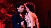 Prince performing with Sheena Easton