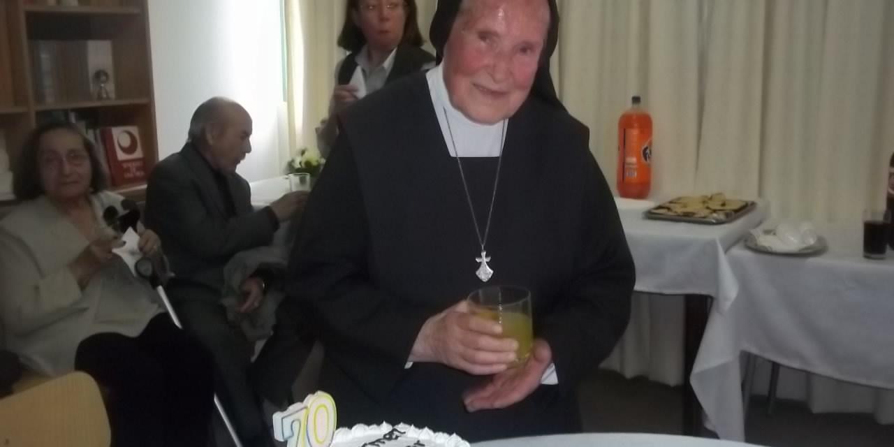 HNA. CARMEN AYERDI 70 AÑOS DE RELIGIOSA