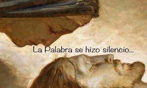 SÁBADO SANTO: LA PALABRA SE HIZO SILENCIO