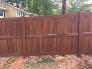 PVC Fence in Wood Finish | America Fence