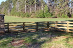 Rural Wood Fence in a Field | America Fence
