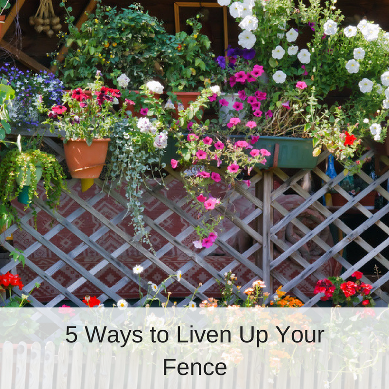 Latticed Fence Decorated with Flowers | America Fence