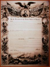 Emancipation Proclamation (public domain photo courtesy ofWikipedia)