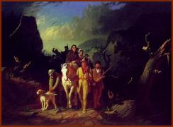 Daniel Boone Escorting Settlers through the Cumberland Gap