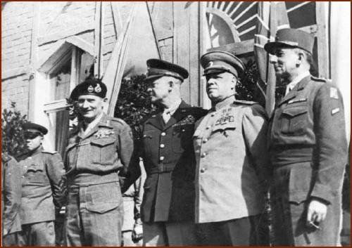 Montgomery Eisenhower Zhukov de Tassigny