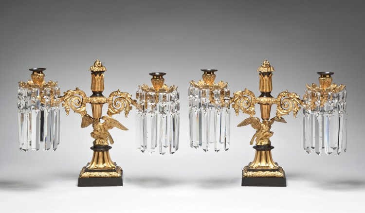 Lacquered Brass Candelabra by Messenger & Phipson