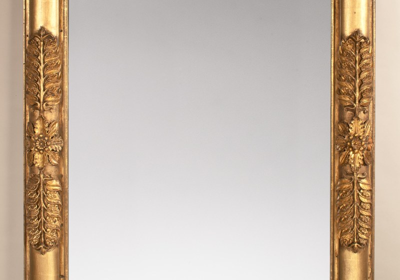 Monumental Carved Gilt-wood Pier or Over-mantle Mirror