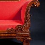 Classical Carved Mahogany Grecian Sofa