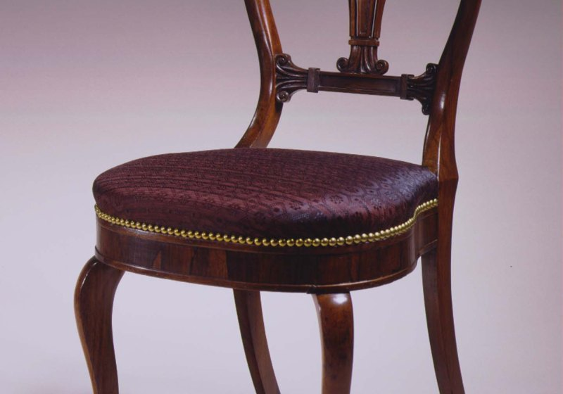 Pair of Carved Rosewood Side Chairs by Phyfe