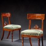 Set of Ten Carved Mahogany Dining Chairs by Richard Parkin