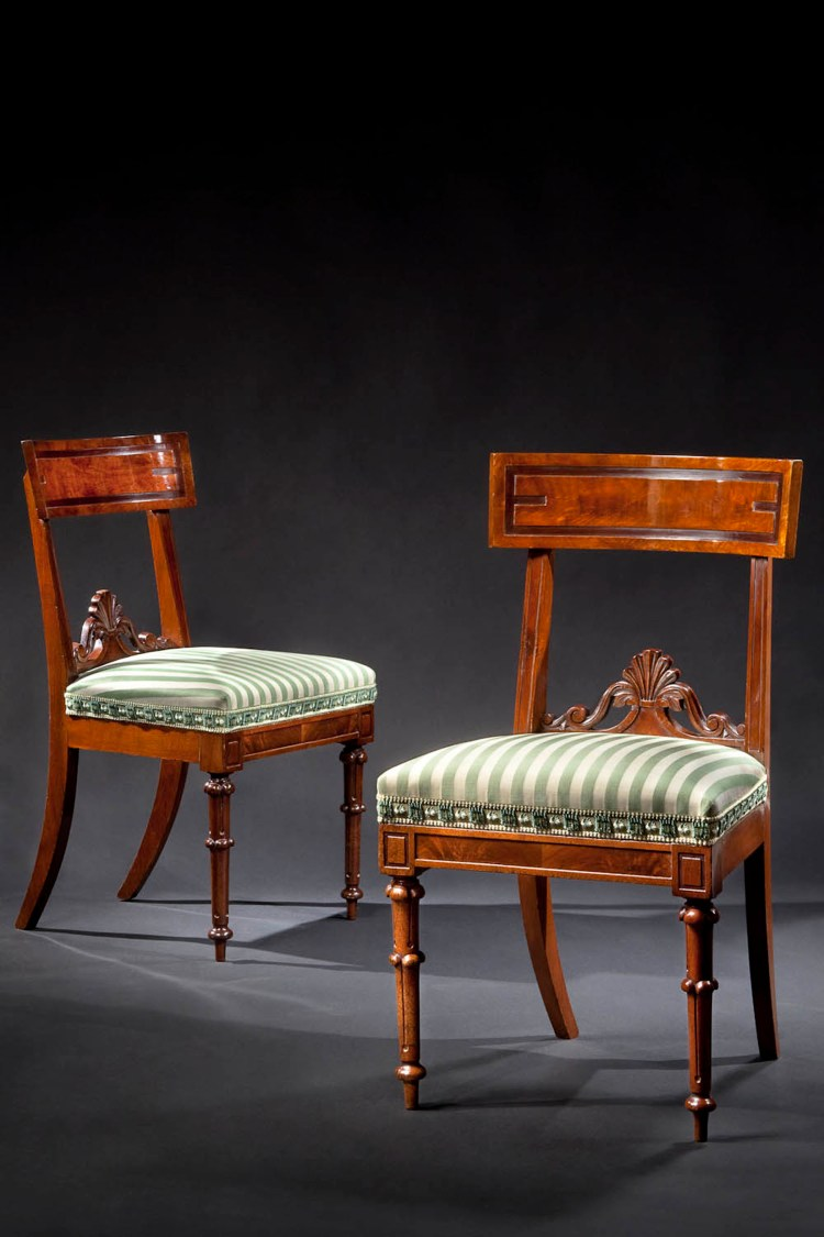 Two of a Set of ten dining chairs by Richard Parkin: