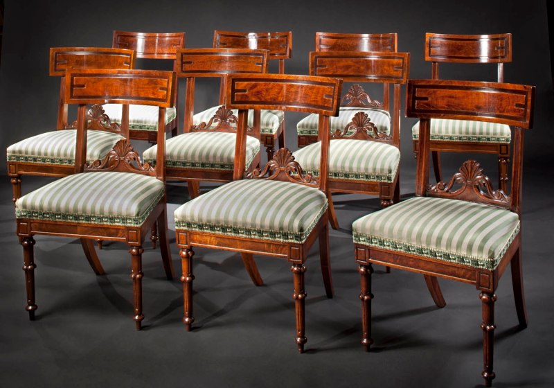 Set of Ten Dining Chairs by Richard Parkin