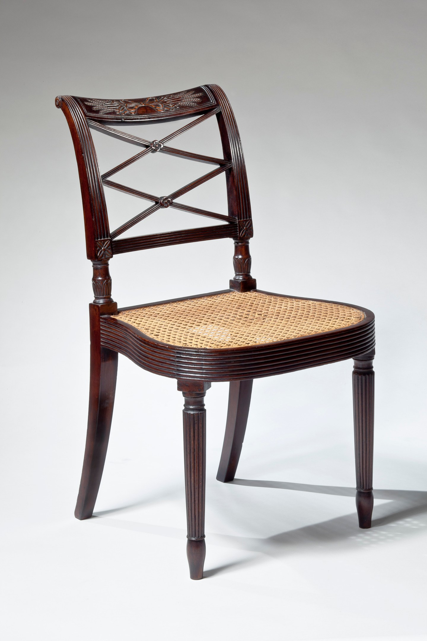 Federal Carved Mahogany Side Chair by Duncan Phyfe