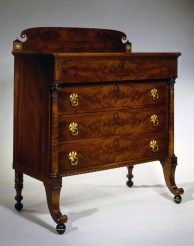 Brass-Mounted Mahogany Bureau by William Hook