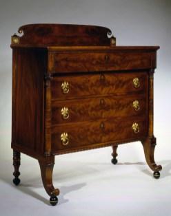 Brass-Mounted Mahogany Bureau by William Hook