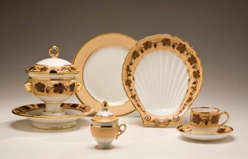 Paris Porcelain Dessert Service by Pochet-Deroche