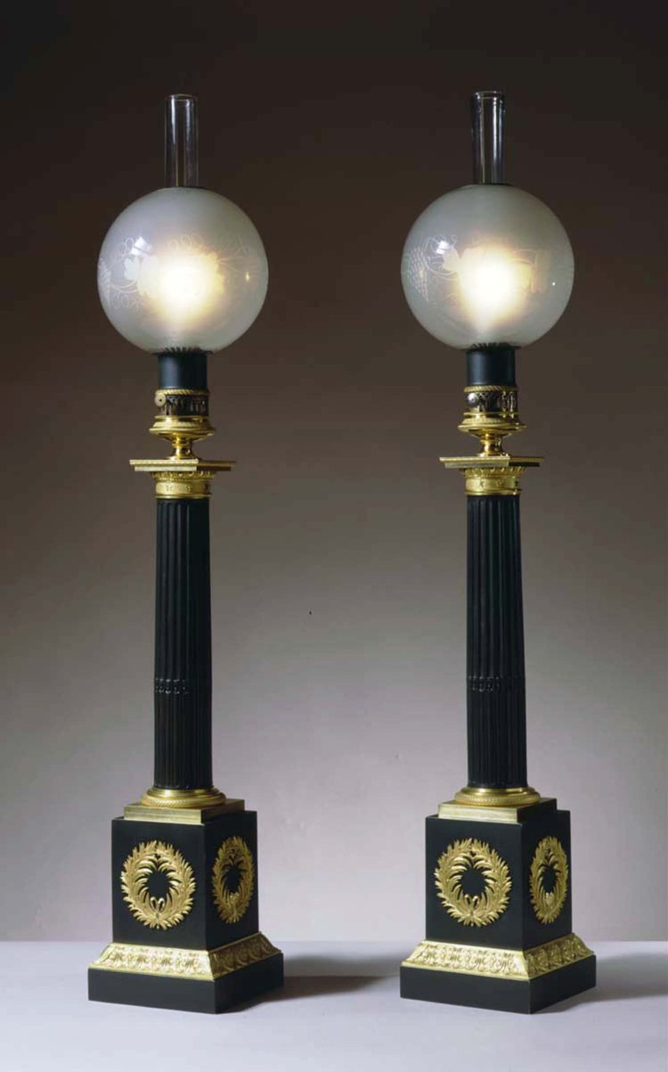 Pair of Carcel Lamps