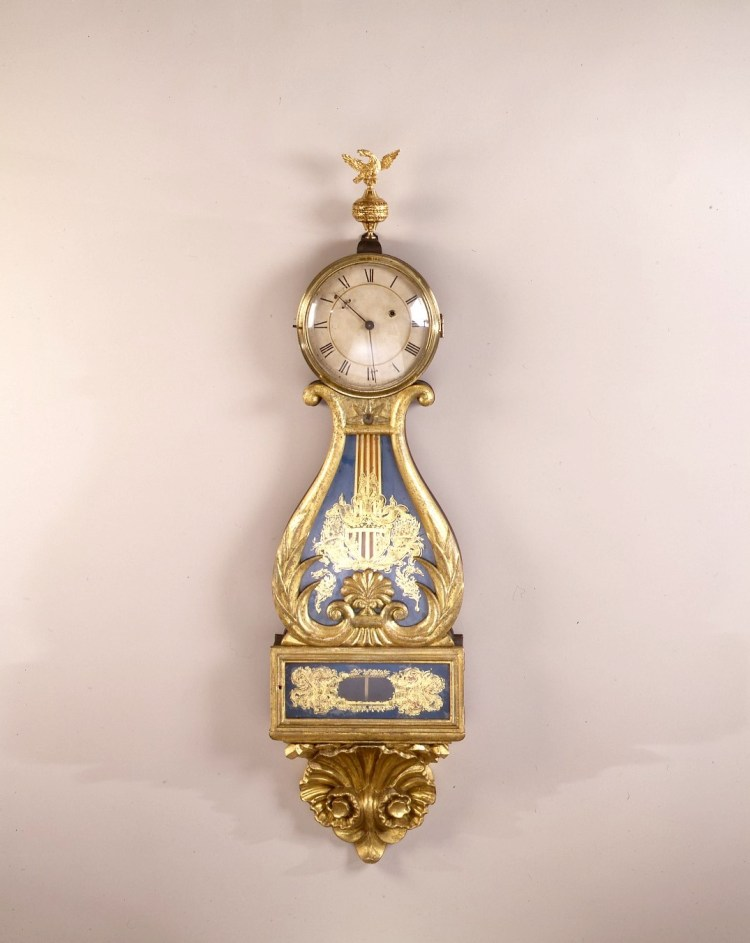 Box-Lyre Clock by Edmund Currier