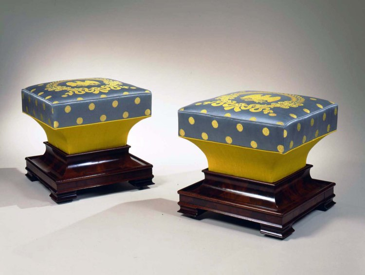Pair of Restauration Ottomans
