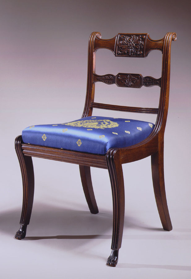 Carved Mahogany Side Chair by Isaac Vose