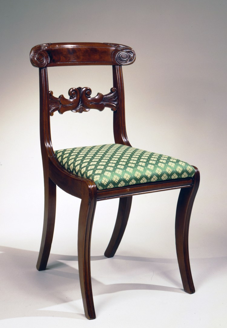 Pair of Boston Klismos Side Chairs