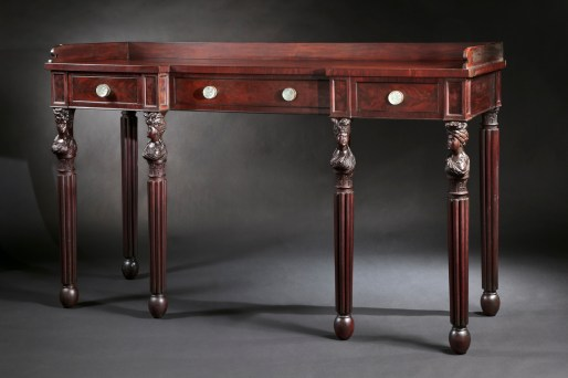 Carved Mahogany Sideboard by Edward Priestley