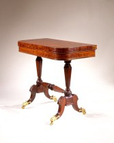 Brass-Inlaid Mahogany Card Table by Duncan Phyfe