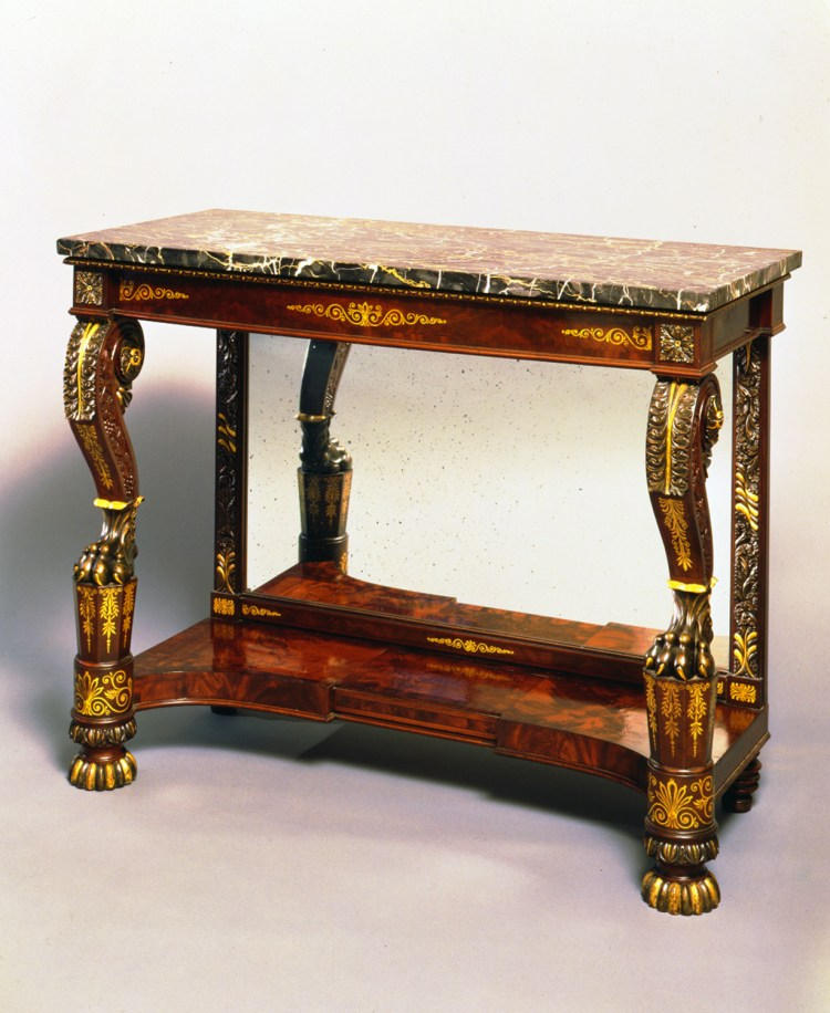 Gilt-Stenciled Pier Table by Anthony Quervelle